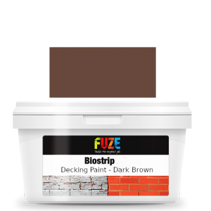 Dark brown decking paint