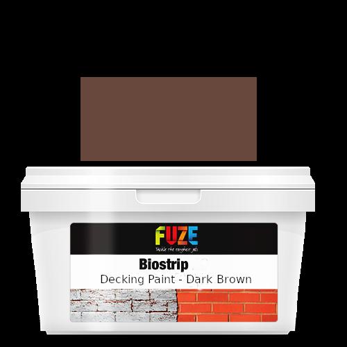 Dark brown decking paint